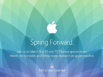苹果3/9举办发布会 Apple Watch或为主角