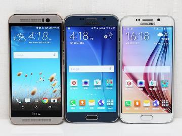 HTC M9与三星S6/S6 edge外型对比