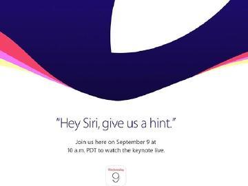苹果宣布9.9召开2015新品发布会 6S来咯!